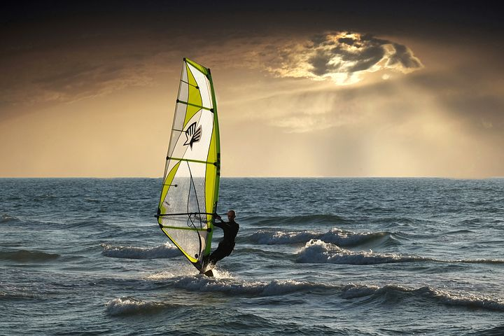 windsurfing cloudy day